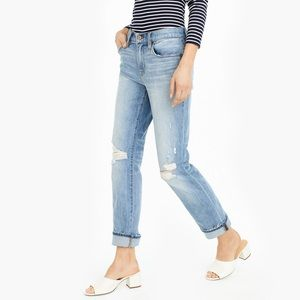 J.Crew Distressed Boyfriend Jean